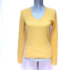 Tommy Hilfiger Vintage Yellow Cable Knit Sweater